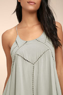 Sister Moon Grey Embroidered Swing Dress 4