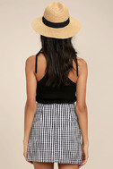 Collegiate Class Black and White Gingham Mini Skirt 4