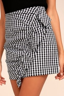 Collegiate Class Black and White Gingham Mini Skirt 5