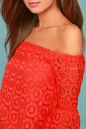 Good Day Red Crochet Off-the-Shoulder Top 4
