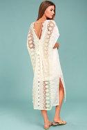 ASTR the Label Juliana Cream Lace Kaftan Dress 2