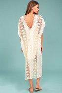 ASTR the Label Juliana Cream Lace Kaftan Dress 3