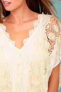 ASTR the Label Juliana Cream Lace Kaftan Dress 4