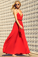 Everything's All Bright Red Backless Maxi Dress 2
