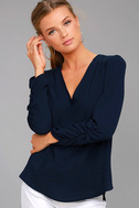 Isola Bella Navy Blue Long Sleeve Top 1
