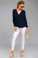 Isola Bella Navy Blue Long Sleeve Top 2