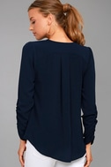 Isola Bella Navy Blue Long Sleeve Top 3