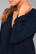 Isola Bella Navy Blue Long Sleeve Top 4