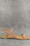 Rika Mauve Nubuck Flat Sandals 3