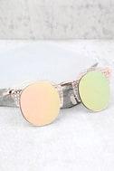 Livin' Easy Rose Gold Mirrored Sunglasses 1