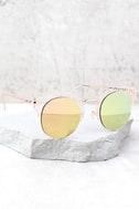 Livin' Easy Rose Gold Mirrored Sunglasses 2