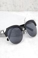 Romantic Reason Silver and Black Sunglasses 1
