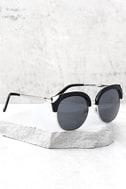 Romantic Reason Silver and Black Sunglasses 2