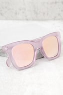 Quay After Hours Pink Mirrored Sunglasses 1