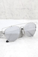 Perverse Nat and Liv Silver Mirrored Sunglasses 1