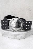 Lovestrength Sienna Black Leather Belt 1