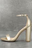 Taylor Gold Ankle Strap Heels 1