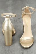 Taylor Gold Ankle Strap Heels 2