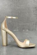 Taylor Gold Ankle Strap Heels 3