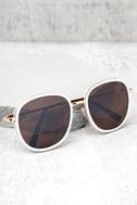 Disco Queen White and Black Sunglasses 1