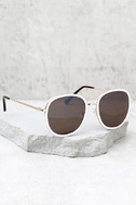 Disco Queen White and Black Sunglasses 2