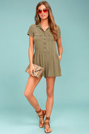Others Follow Woodrest Olive Green Romper 2