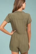 Others Follow Woodrest Olive Green Romper 3