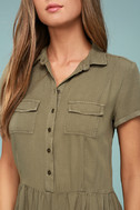 Others Follow Woodrest Olive Green Romper 4
