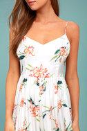 BB Dakota Lila White Floral Print Midi Dress 4
