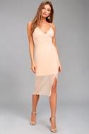 Keepsake Come Around Blush Pink Midi Dress 1