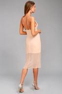 Keepsake Come Around Blush Pink Midi Dress 2