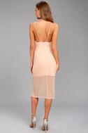 Keepsake Come Around Blush Pink Midi Dress 3
