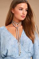 Positive Prediction Grey Wrap Necklace 1