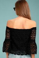 Good Day Black Crochet Off-the-Shoulder Top 3