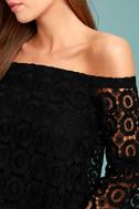 Good Day Black Crochet Off-the-Shoulder Top 4