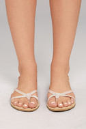 Evalynn Blush Flat Thong Sandals 2