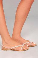 Evalynn Blush Flat Thong Sandals 3