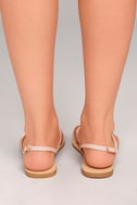 Evalynn Blush Flat Thong Sandals 4