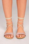 Issey Mauve Lace-up Sandals 2