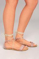 Issey Mauve Lace-up Sandals 3