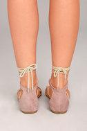 Issey Mauve Lace-up Sandals 4