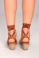 Mi.im Plush Brown Suede Lace-Up Heels 4