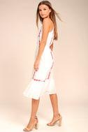 When You Smile White Embroidered Midi Dress 2