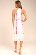 When You Smile White Embroidered Midi Dress 3