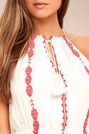 When You Smile White Embroidered Midi Dress 4