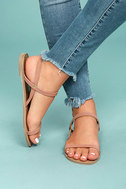 Rika Mauve Nubuck Flat Sandals 4