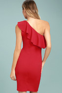 Life is But a Dream Red One-Shoulder Bodycon Dress 3