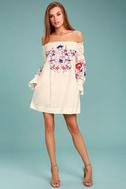 Free People Fleur Du Jour Cream Embroidered Dress 2