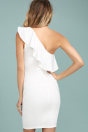 Life is But a Dream White One-Shoulder Bodycon Dress 3
