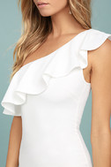 Life is But a Dream White One-Shoulder Bodycon Dress 4